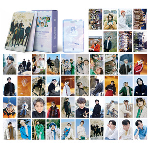 Integration link 54 lomo cards bulletproof pink EXO NCT stray kids peripheral BE cards