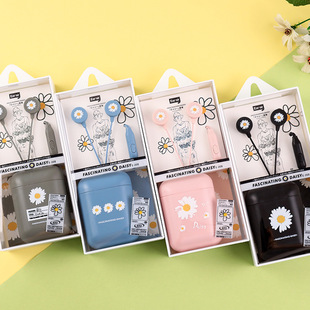 The new creative small daisy in-ear earphones with mark can call music small earphones for Android Apple earphones